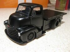 1952 CHEVY COE FLAT BLACK FLATBED TRUCK COUNTING CARS DIE CAST 1:24 SCALE JADA
