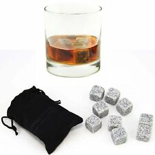 Sipping Stones Whisky Stones Chilling Rocks in Gift Box with Carrying Pouch 9pcs