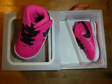 Nike Force 1 Baby's Crib Shoes Sz.4 C US Pink NIB