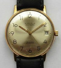 Vintage Gents Gold Plated 1960s Kienzle 25 Jewel Auto PUW 1361 Watch Serviced