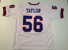 New York Giants Lawrence Taylor UNSIGNED CUSTOM White Jersey - XL
