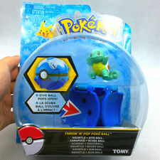 "New arrival 2"" Poke ball Bounce Pokeball with Pokemon figure toys TOMY Squirtle"