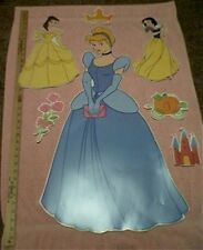 "Disney PRINCESS CINDERELLA wall stickers MURAL decals 31"" tall decor Snow White"