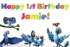 Custom XLarge Full Color Blu Jewel Parrot Rio 2 Birthday Party Banner
