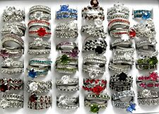 10Paris ( 20pcs) Lovers Ring Wedding Engagement Rings Wholesale Jewelry Job Lots