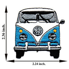 Blue Volkswagen Model Van Bus Vintage Classic Car V02 Applique Iron on Patch Sew