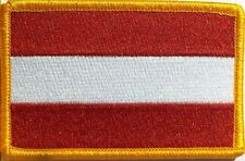 Austria Flag Embroidery Iron-On Patch Military Emblem Gold  Border