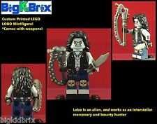 LOBO Mercenery DC Custom Printed LEGO Minifigure with Weapons NO DECALS USED!