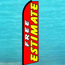 FREE ESTIMATE FLUTTER FEATHER FLAG Body Shop Advertising Sign Bow Banner Swooper