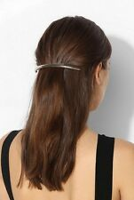Epingle A Cheveux Argenté Arc Tube Artisanal Simple Retro