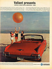 Vintage 1963 Magazine Ad Chrysler Valiant Presents Convertible Low Price $2340