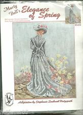 ELEGANCE OF SPRING Kit.Counted Cross Stitch,MPN-SEALED,MARTY BELL VICTORIAN LADY