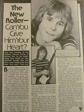 Duncan Faure, The Bay City Rollers, Full Page Vintage Clipping