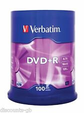 Verbatim 43551 4.7 Gb 16x DVD+R Matt Silver - 100 Pack Spindle Dvd En Blanco
