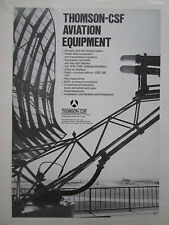 7/1973 PUB THOMSON-CSF AVIATION EQUIPMENT RADAR RADIOTELEPHONE ILS ORIGINAL AD