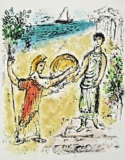 Athena and Telemachus (The Odyessy) 1989, Ltd Ed Lithograph, Marc Chagall