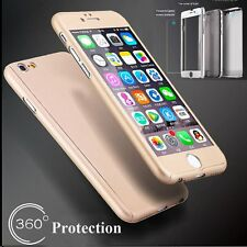 360° Full Hybrid Tempered Glass+Acrylic Hard Case Cover For iPhone 6 & 6S 7 Plus