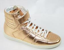 AUTH YSL Yves Saint Laurent Women Gold Leather Sneaker 37