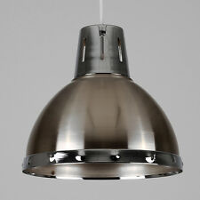 Modern Industrial Style Brushed Chrome Ceiling Pendant Light Shade Lampshade