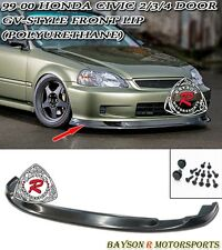 GV Style (Time Attack) Front Lip (Urethane) Fits 99-00 Honda Civic 4dr