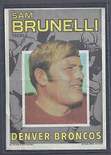 1971 Topps Pin Ups Poster Insert  #14 Sam Brunelli Tackle Denver Broncos