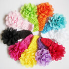 10PCS Girl Baby Toddler Lace Flower Headband Hair Band Accessories Kids Headwear