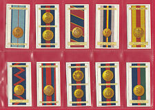 STEPHEN MITCHELL & SON - RARE SET OF 25 MILITARY / ARMY RIBBONS CARDS  -  1916