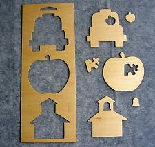 Unfinished Wood Frames & Punchout Shapes for Painting & Crafts - Back To School