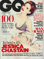 GQ BRITISH MAGAZINE JAN 2013, CHASTAIN,100 BEST THINGS IN THE WORLD RIGHT NOW.