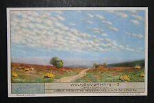 Cirro-cumulus  Cloud Formation     Vintage Art Card  VGC