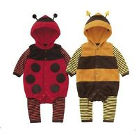 BABY BOYS GIRLS KIDS ALL IN ONE BUG BEE LADYBIRD ROMPER PLAY SUIT COSTUME OUTFIT