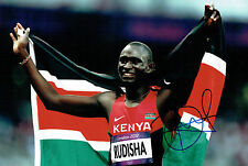 David Lekuta RUDISHA Autograph Signed Photo AFTAL COA Kenya Gold Medal Winner