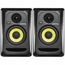 KRK Rokit RP4 G3 Active studio moniteur haut-parleurs (paire, noir avec jaune cône)