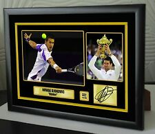 "Novak Djokovic Limited Edition Framed Canvas Tribute Print Signed ""Great Gift"""