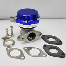 TURBO CHARGED BOLT-ON 38mm EXTERNAL TURBO WASTEGATE DUAL 8+6 LB SPRINGS BLUE