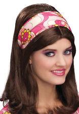Flower Power Stirnband pink NEU - Karneval Fasching Hut Mütze Kopfbedeckung