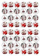 CHRISTMAS TOPPERS EDIBLE RICE WAFER PAPER CUP CAKE TOPPER X48