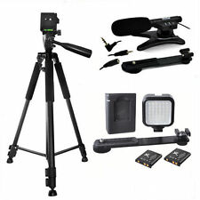 ZOOM VIDEO MICROPHONE + 36LED LIGHT +72 TRIPOD FOR CANON EOS REBEL T5 T5I T6 T6I