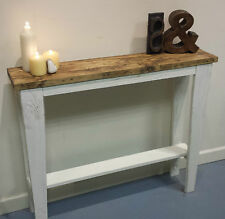 OOAK original handmade wooden hall sofa console table  wood upcycle reclaimed