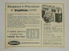 Pubblicità 1957 VOIGTLANDER VITO PHOTO FOTO old advertising werbung publicitè