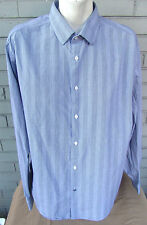 Ben Sherman Black Thin Stripe Pattern Mens L/S Button Shirt XL