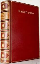 1926 THE TRAVELS OF MARCO POLO BOUND BY SANGORSKI & SUTCLIFFE ILLUSTRATED FINE