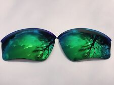 NEW POLARISED EMERALD GREEN  MIRRORED REPLACEMENT OAKLEY HALF JACKET XLJ LENSES