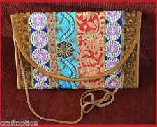 embroidered silk purse ipad shoulder bag of antique recycled indian dresses