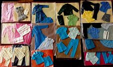 Huge Rare Vintage Handmade Custom Barbie And Ken  Lot Clothes Accessories 1960's