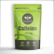 Caffeine 200mg 90 x TABLETS - ENERGY AND DIET PILLS, PRE WORKOUT AND FAT LOSS
