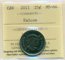 2011 Canada 25 Cent Falcon Certified ICCS MS-66