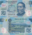 MEXICO 20 Pesos Banknote World Money UNC Currency Note p122e - 2010 Polymer BILL