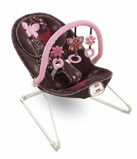 Fisher Price Comfy Time Bouncer Mocha Butterfly Vibrating Chair w/ Toy Bar NEW!