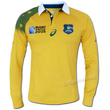 Wallabies 2015 Rugby World Cup Long Sleeve Traditional Jersey Size 3XL